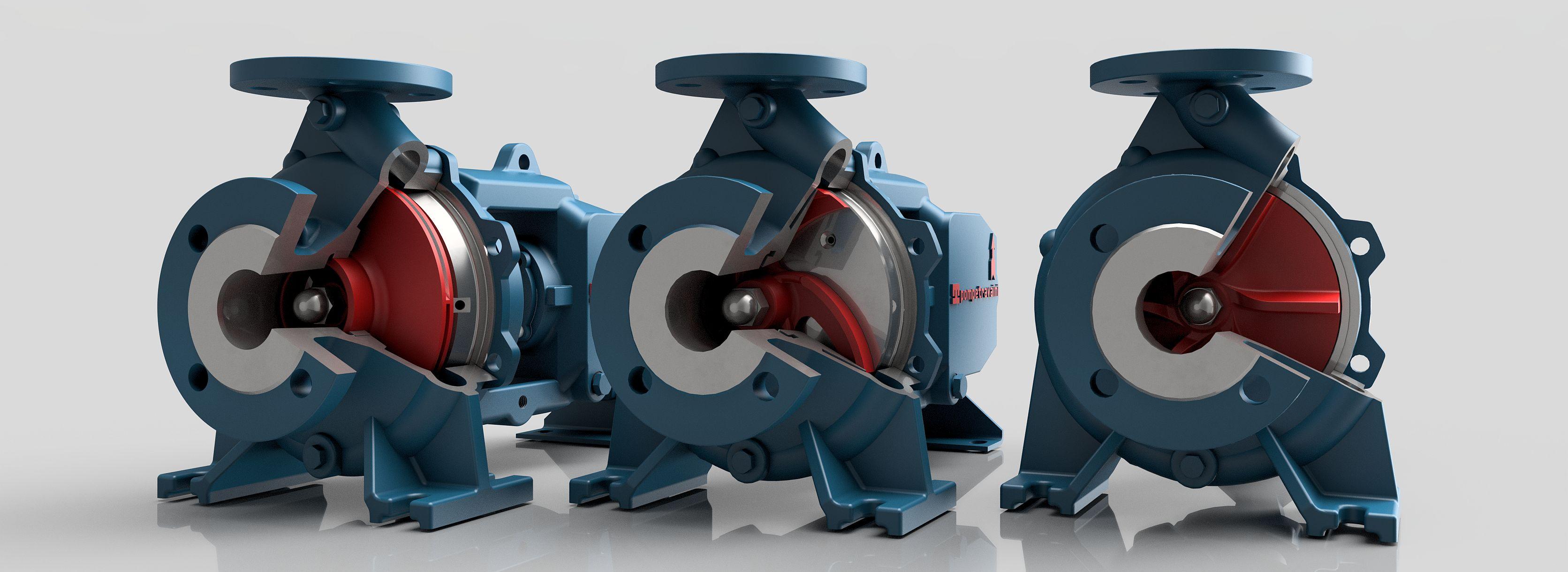 Pompe centrifughe monostadio