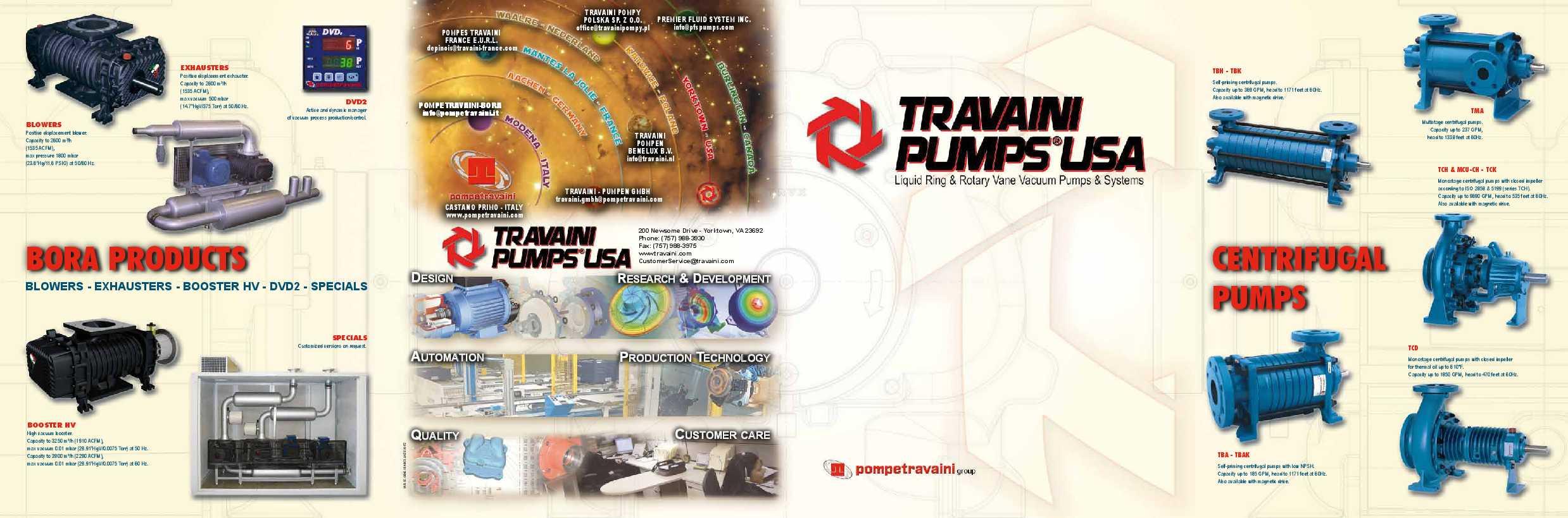 Travaini Pumps Catalogue